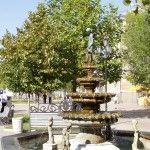 Фонтан на проспекте в Бердянске - излюбленное место отдыхающих