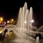 Ночной фонтан в Бердянске - отдыхать с удовольствием