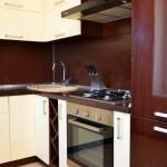 кухня в апартаментах гостиницы
