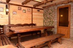 Комната отдыха. Баня на дровах
