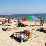 Пляж возле о теля Бристоль в Бердянске