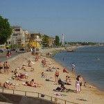 песчаный пляж Азовского моря - отдых в Бердянске Отель Бристоль